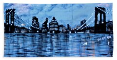 Bridges To New York Bath Towel