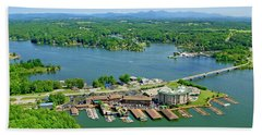 Bridgewater Plaza, Smith Mountain Lake, Virginia Hand Towel
