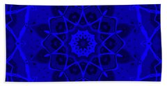 Bath Towel featuring the digital art Brigadoon No. 1 Neon Blue by Joy McKenzie