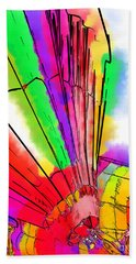 Hand Towel featuring the digital art Bright Colored Balloons by Kirt Tisdale