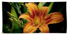 Bright Daylily Bath Towel