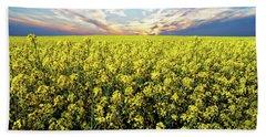 Bright Flowering Field Bath Towel by Anthony Dezenzio
