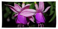 Bright Fuchsias Bath Towel