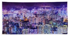 Bright Lights, Big City Bath Towel