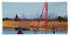 Bright Paintery Barge Hand Towel