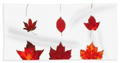 Bright Red Autumn Leaves Hand Towel