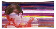 Hand Towel featuring the painting Bright Silence by Rene Capone