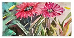 Bright Spring Daisies Hand Towel