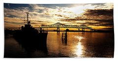 Bright Time On The River Hand Towel by Scott Pellegrin