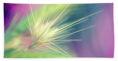 Bright Weed Bath Towel by Terry Davis