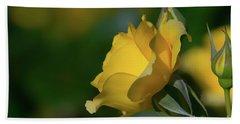 Bright Yellow Walking On Sunshine Rose Hand Towel