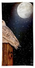 Brighter Than The Moonlight Bath Towel by Heather King