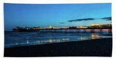 Brighton Pier At Sunset Ix Hand Towel