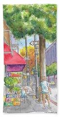 Brighton Way And Camden Dr., Beverly Hills, California Hand Towel
