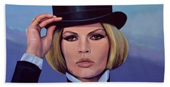 Brigitte Bardot Painting 2 Bath Towel