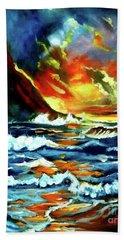 Brilliant Hawaiian Sunset Hand Towel by Jenny Lee