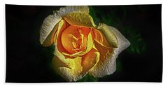 Bath Towel featuring the photograph Brilliant Yellow by Judy Hall-Folde