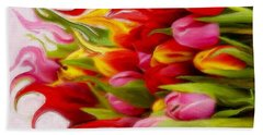 Bath Towel featuring the mixed media Bring Color Into Your Life by Gabriella Weninger - David