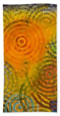 Bath Towel featuring the painting Bring Down Colored Rain by Cliff Spohn