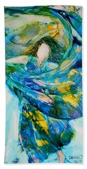 Bath Towel featuring the painting Bringing Heaven To Earth by Deborah Nell