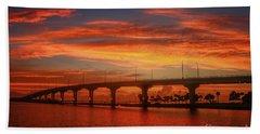 Bridge Sunrise Bath Towel by Tom Claud