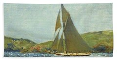 Bath Towel featuring the painting Britannia by Henry Scott Tuke