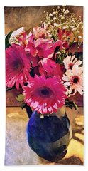 Brithday Wish Bouquet Hand Towel by MaryLee Parker