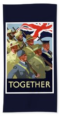 British Empire Soldiers Together Bath Towel
