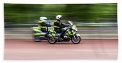 British Police Motorcycle Bath Towel