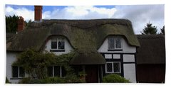 Bath Towel featuring the photograph British Thatched Cottage by Baggieoldboy