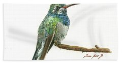 Broad Billed Hummingbird Bath Towel