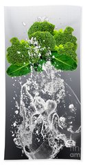 Broccoli Splash Hand Towel
