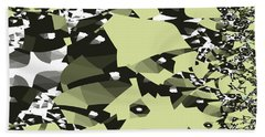 Broken Abstract Bath Towel by Jessica Wright