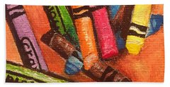 Broken Crayons Bath Towel