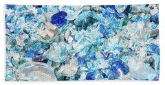 Broken Glass Blue Hand Towel