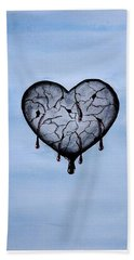 Broken Heart Hand Towel by Edwin Alverio