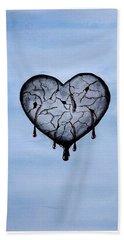Broken Heart Bath Towel by Edwin Alverio