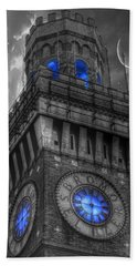 Bromo Seltzer Tower Baltimore - Blue  Hand Towel