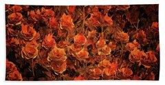 Bronze Roses Hand Towel