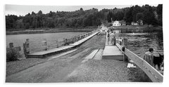 Hand Towel featuring the photograph Brookfield, Vt - Floating Bridge 5 Bw by Frank Romeo