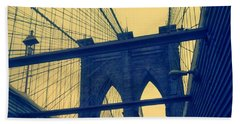 New York City's Famous Brooklyn Bridge Bath Towel