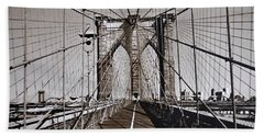 Brooklyn Bridge By Art Farrar Photographs, Ny 1930 Bath Towel