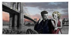 Brooklyn Bridge Hand Towel by Chris Consani