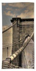Brooklyn Bridge Hand Towel by David Bearden