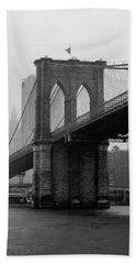 Brooklyn Bridge In A Storm Hand Towel
