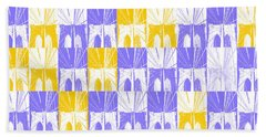 Bath Towel featuring the photograph Brooklyn Bridge In Purple And Gold by Marianne Campolongo