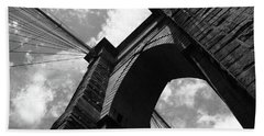 Brooklyn Bridge - New York City Bw 5 Bath Towel