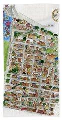 Brooklyn Heights Map Hand Towel