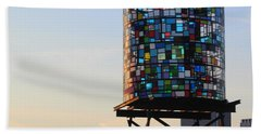 Brooklyn's Glowing Glass Water Tower - Public Art Bath Towel