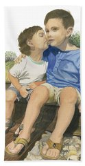 Brotherly Love Hand Towel by Ferrel Cordle